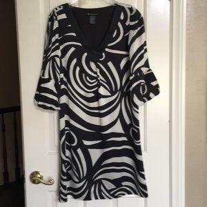 INC black/tan silk dress. Excellent condition.